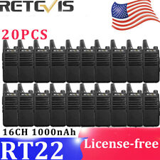 Retevis Rt22 Uhf Rechargeable LongRange Vox 16Ch Commercial Two-Way Radio(20Pcs)