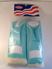 Vintage-New Old Stock-4 piece Burton Golf Club Covers-Aqua/White