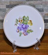 Kuchenteller Obstteller Obstplatte Obstdekor Trauben Hutschenreuther Selb 20 cm