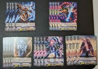 CARDFIGHT!! VANGUARD V-BT04 SHADOW PALADIN PLAYSET (4x EACH R AND C) + 4 MARKERS
