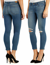 NWT $199 Paige Verdugo Crop Jayla Destructed Ultra Skinny Jeans Size 29