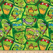 "Nickelodeon Teenage Mutant Ninja Turtles 100% cotton  fabric remnant 31"""