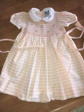 EUC Vintage Carriage Boutiques Girls 2at Peach Smocked Dress Easter Party