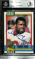 Darrell Green Signed 1990 Topps #136 Washington Football Card BGS