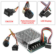 60A DC10-55V 24V 48V PWM Motor Speed Controller CW CCW Reversible Switch Useful