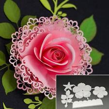 Layered Flower Leaves DIY Metal Cutting Dies Stencil Scrapbooking Album Crafts