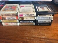 LOT OF 12 8-TRACK TAPES Classic Country Music,Mickey Gilley, Paycheck,Reeves