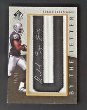 2007 SP AUTHENTIC RC AUTO BY THE LETTER PATCH RONALD CURRY #48/65 RAIDERS BTL-CU