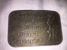 MISSISSIPPI ARMY NATIONAL GUARD CAREERIST Belt Buckle with Pouch