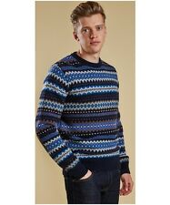 Barbour Heritage Men's Caistown Fairisle Knitted Sweater Navy Size S