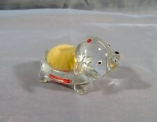 Vintage Glass Puppy Dog Figurine Pin Cushion