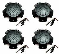 4 American Racing Gloss Black Wheel Center Hub Caps 5//6Lug AR915