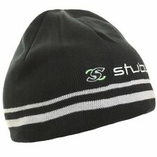 2017 Stuburt Golf Reversible Winter Beanie Hat Black / Grey