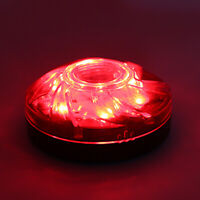 LED Emergency Flash Strobe Light W/ Magnetic Bottom Bright Two Modes Red Lamp