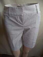 Express Design Studio Womans Shorts Tan Pinstripe Poly/Cotton Sz 0 NWT MSRP $45