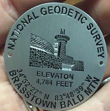 Brasstown Bald Mountain Bench Mark Hiking Staff Stick Medallion NEW