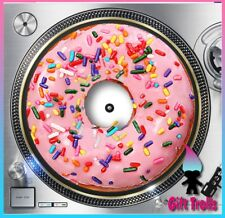 "Strawberry Donut Turntable Slipmat - 12"" LP Record Player, DJ"