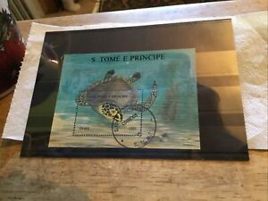 S Tome E Principe Used Stamp Miniature Sheet