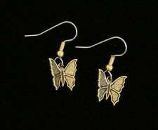 Butterfly Earrings 24 Karat Gold Plate Garden Gardener Gift Butterflies