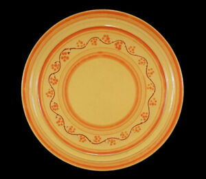 RARE VINTAGE PACIFIC LOS ANGELES CALIFORNIA ART POTTERY DECORATED CHOP PLATE