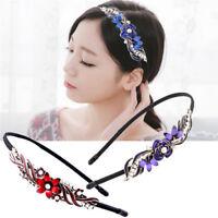 Flower Chic Metal Rhinestone Crystal Head Piece Chain Jewelry Headband Hair Band