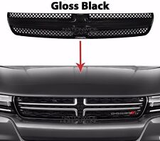 2015-17 Dodge Charger Gloss Black Grille Overlay Front Full Grill Inserts Covers
