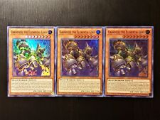 Yugioh grandsoil the elemental lord x3 super rare FLOD-ENSE1 Mint