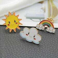2018 New Fashion Cartoon Sweet Sun Rainbow Cloud Metal Brooch Pins Wholesale Jewelry & Accessories
