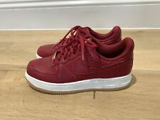 Nike Air Force 1 Burgundy Leather Trainers Sneakers