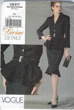 out-of-print Vogue pattern Devine Details, V8317, sizes 14-16-18-20, Gr. 40 - 46