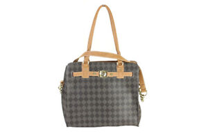 Marc Fisher New Brown Check Mate Belted Tote Bag Msrp