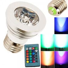 E26 E27 RGB LED Multi-color Change Magic Party Bulbs Lighting Lamp + Remote