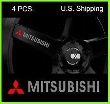 4 MITSUBISHI Stickers Decals for Wheels Door handle Mirror Evo Lancer SILVER