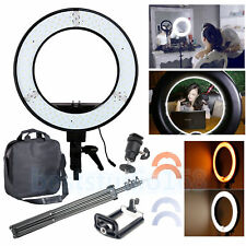 "12"" 5500k Dimmable Diva 240 LED Ring Light Diffuser Mirror Stand Make up Studio"