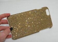 Gold Made with Swarovski Crystals Bling Rhinestones Case Cover iPhone 5/5S/SE