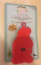 BNIP New 3D Plastic Christmas Cookie Cutter - Santa / Father Christmas