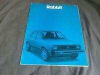 1980 VW Volkswagen Golf Rabbit USA Market Color Brochure Prospekt