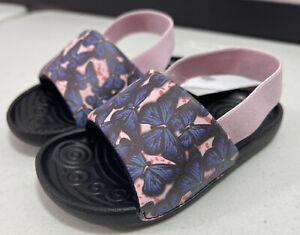 Toddler Girl's Nike Kawa Slide Sandals TD Pink Blue Butterfly BV1094 600 Size 7c