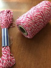 Bakers Twine String Roll Hot Pink & White 2mm 5m Wedding Favours  DIY Craft
