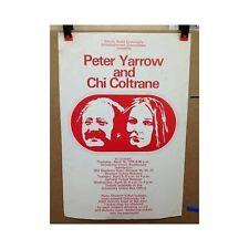 Peter Yarrow and Chi Coltrane Original Vintage Concert Tour Promo poster ISU