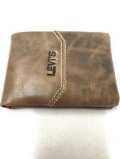Men's Brown Premium Levi's Leather Wallet New.  #LEVIS  Tan