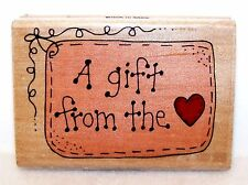 1999 Rubber Stamp WESTWATER by Trena Hegdahl A GIFT FROM the HEART ~Never Used