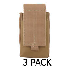 3 Pack Every Day Carry Tactical MOLLE Double Rifle Magazine Pouch - Tan