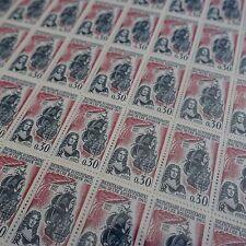 FEUILLE SHEET TIMBRE ÎLE BOURBON LA RÉUNION N°1461 x50 1965 NEUF ** LUXE MNH