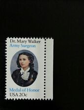 1982 20c Dr. Mary Walker, Army Surgeon, Medal of Honor Scott 2013 Mint F/VF NH