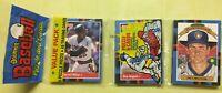 1988 Donruss Baseball Card Rack Pack Darrell Miller Don August Paul Molitor HOF