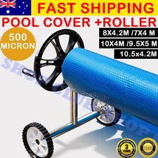 UPGRADED Pool Cover Blanket Roller Swimming Solar 500 Micron Bubble 5 SIZES AU