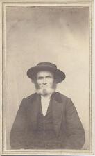 ORIGINAL CDV PORTRAIT OF PENNSYLVANIA DUTCH AMISH MAN