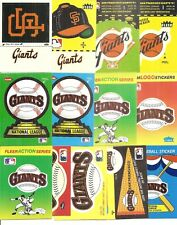 (40) Assorted San Francisco Giants Fleer Team Stickers 80's and 90's