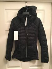 Lululemon Down For A Run Jacket NWT Sz 2 Black 800 Fill Power Goose Down